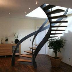Escalera moderna herreria chavez for Imagenes escaleras modernas