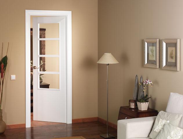 Puerta blanca herreria chavez - Puertas de casa blancas ...